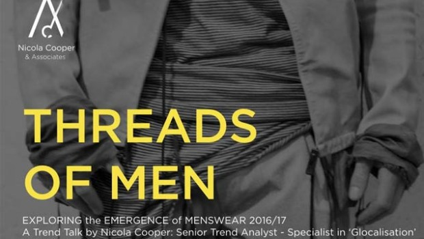 Nicola Cooper, Senior Trend Analyst is presenting an exciting new Trends Talk called THREADS OF MENat SA Menswear Week on Friday the 5th of February2016 at 10h00.  The talk […]