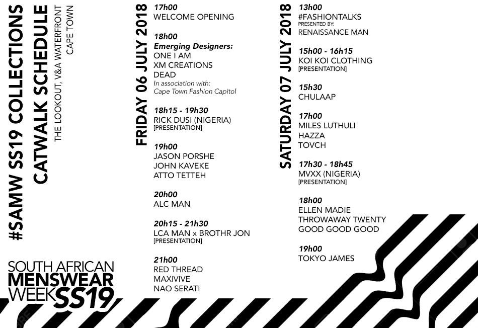 SAMW SS19 Schedule