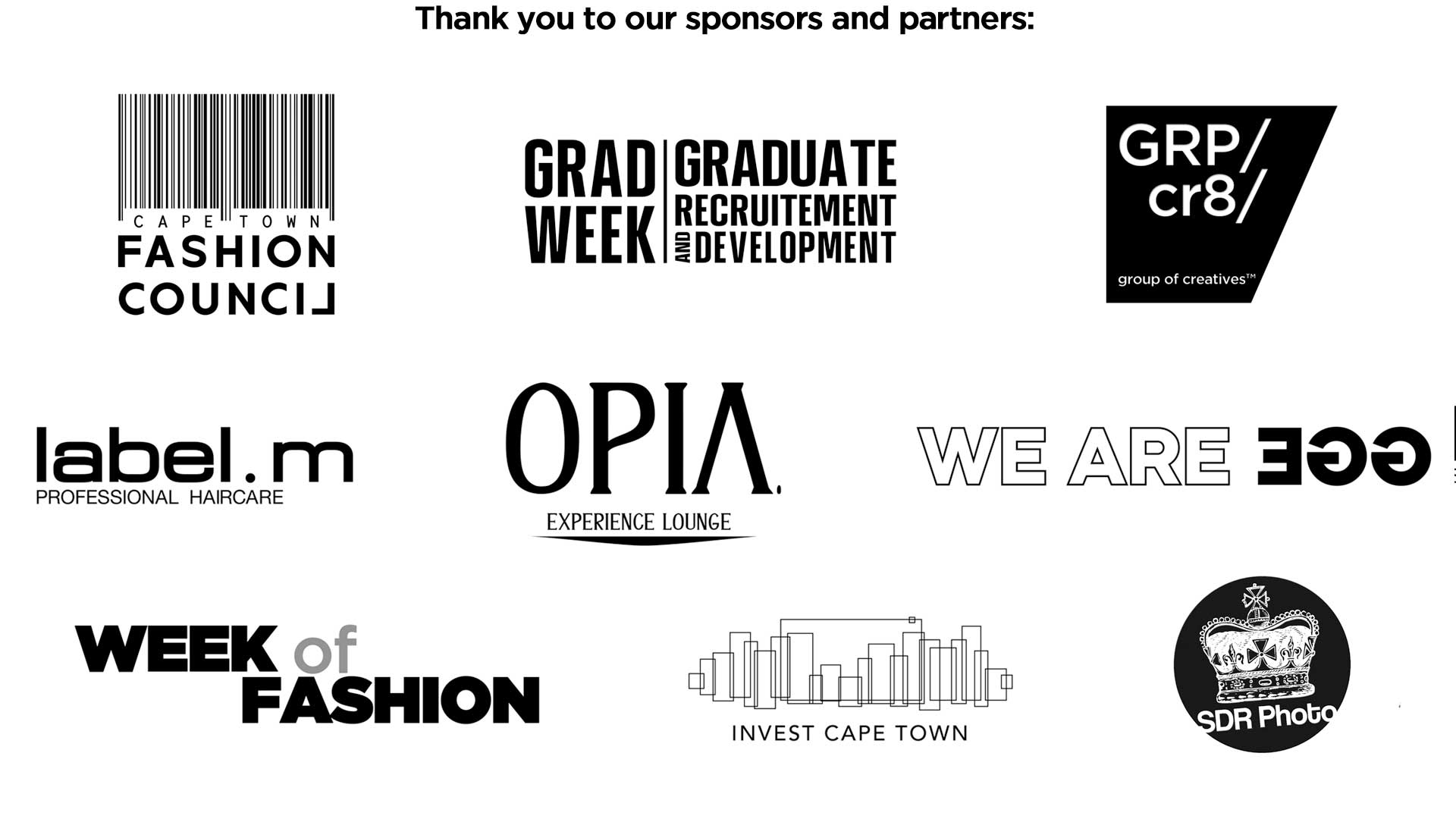 Thank you to the SAMW Sponsors and Partners